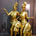 Gold Glitter Broadway Living Statues